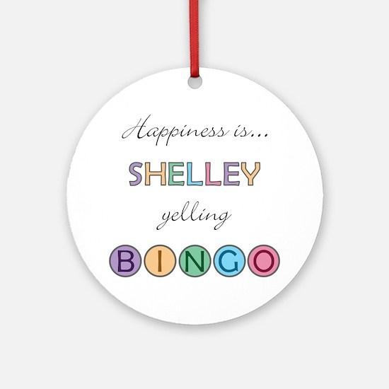 Shelley BINGO Round Ornament
