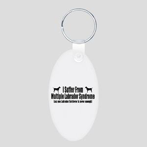 Labrador Retriever Aluminum Oval Keychain