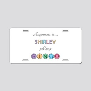 Shirley BINGO Aluminum License Plate