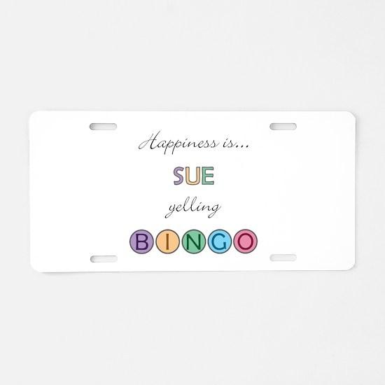 Sue BINGO Aluminum License Plate