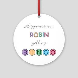 Robin BINGO Round Ornament