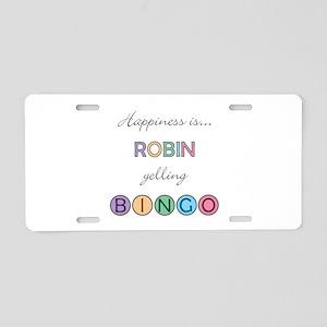 Robin BINGO Aluminum License Plate