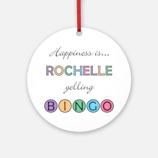 Rochelle BINGO Round Ornament