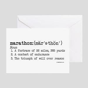 Marathon Definition Good Luck Card
