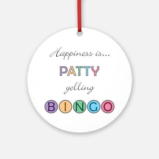 Patty BINGO Round Ornament