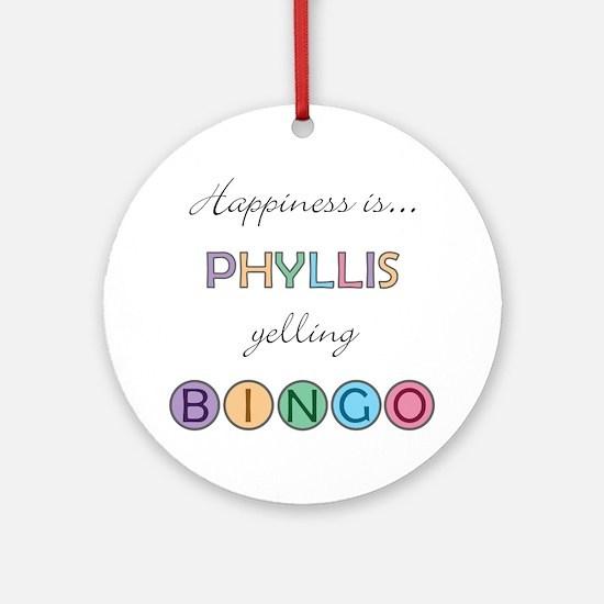 Phyllis BINGO Round Ornament