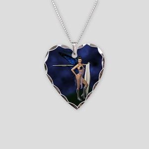 Color Guard Fairy Necklace Heart Charm