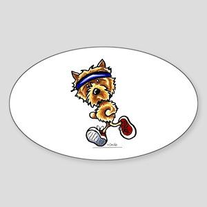 Norwich Terrier Running Sticker (Oval)