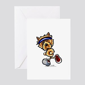 Norwich Terrier Running Greeting Card