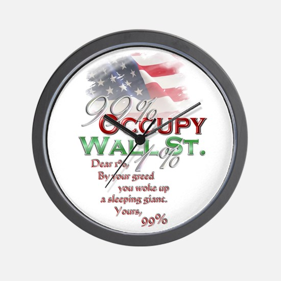 Occupy Wall St. Wall Clock