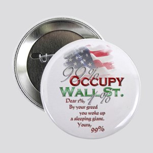 "Occupy Wall St. 2.25"" Button"