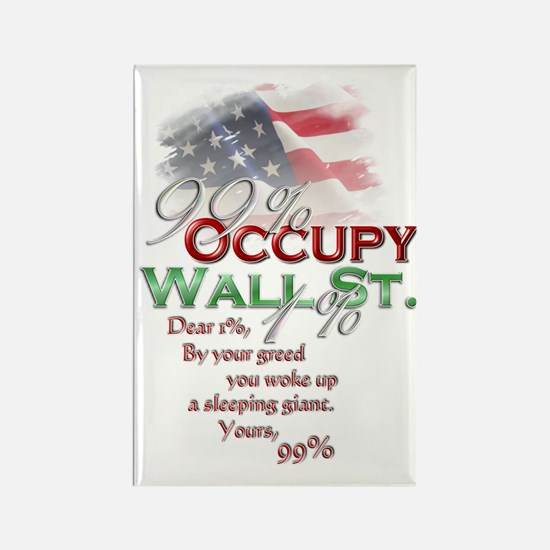 Occupy Wall St. Rectangle Magnet