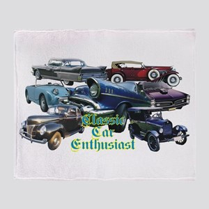 Classic Cars Throw Blanket