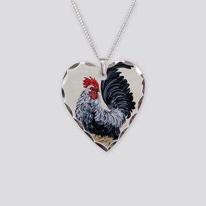 Chicken - Talk to the Tail Necklace Heart Charm