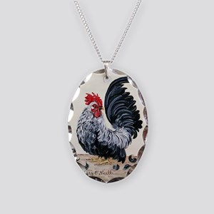 Chicken - Talk to the Tail Necklace Oval Charm