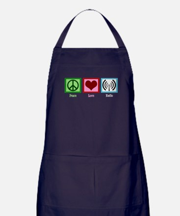 Peace Love Radio Apron (dark)