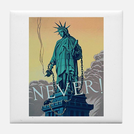 Statue of Liberty Freedom Tile Coaster