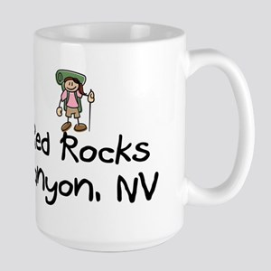 Hike Red Rocks Canyon (Girl) Large Mug