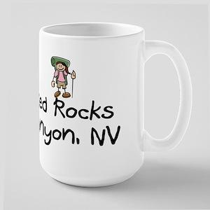 Hike Red Rocks Canyon (Girl) Large Mug