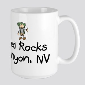 Hike Red Rocks Canyon (Boy) Large Mug