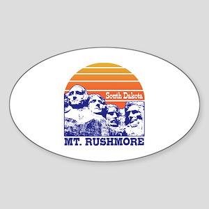 MT. Rushmore South Dakota Sticker (Oval)