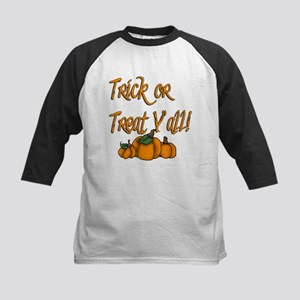 Trick or Treat Y'all! Kids Baseball Jersey