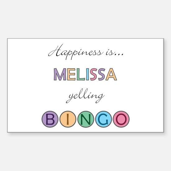 Melissa BINGO Rectangle Decal