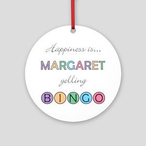 Margaret BINGO Round Ornament