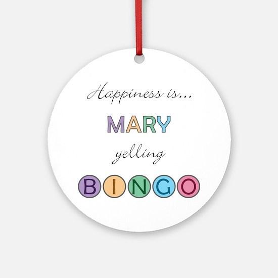 Mary BINGO Round Ornament