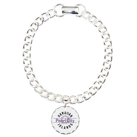 Pearl City Oahu Hawaii Charm Bracelet, One Charm