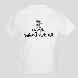 Hike Olympic Nat Park (Girl) Kids Light T-Shirt