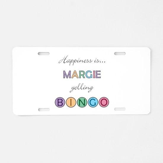Margie BINGO Aluminum License Plate
