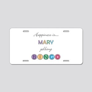 Mary BINGO Aluminum License Plate