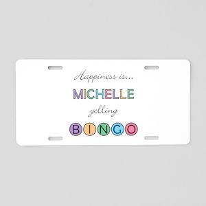 Michelle BINGO Aluminum License Plate