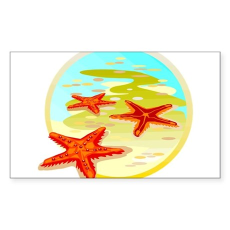 STARFISH {2} Sticker (Rectangle)