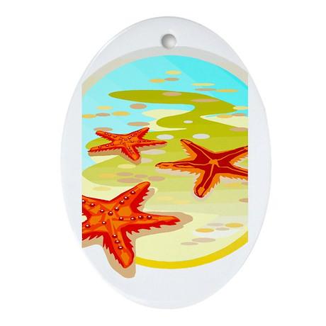 STARFISH {2} Ornament (Oval)