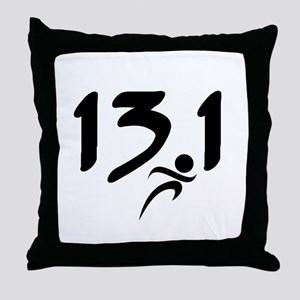 13.1 run Throw Pillow