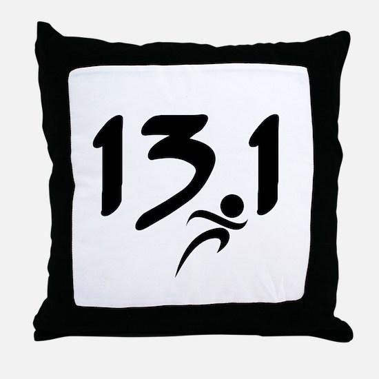 13.1 run Throw Pillow