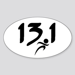13.1 run Sticker (Oval)