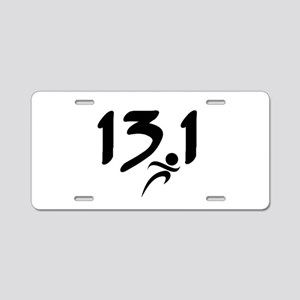 13.1 run Aluminum License Plate