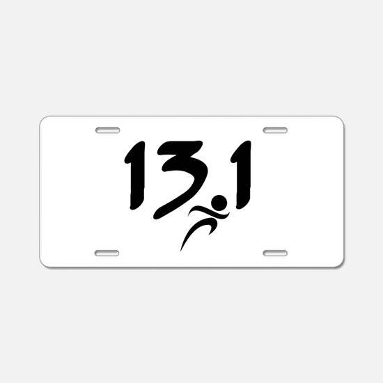 13.1 run Aluminum License Plate
