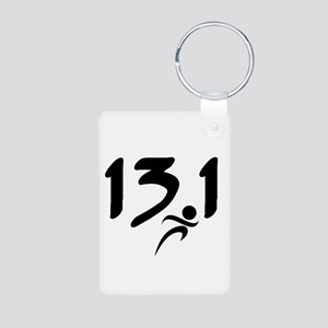 13.1 run Aluminum Photo Keychain