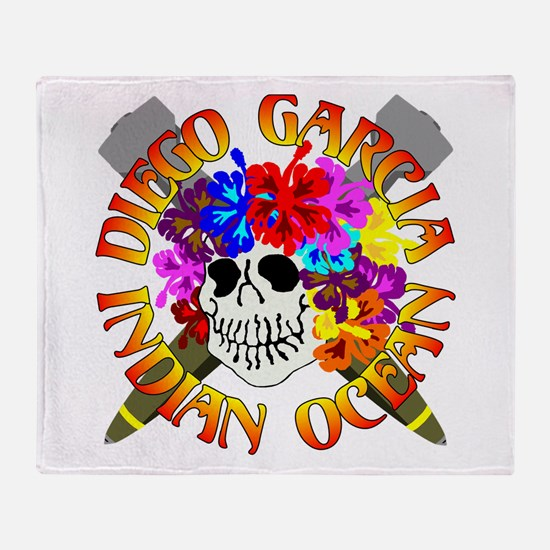 Diego Garcia Jolly Roger Throw Blanket