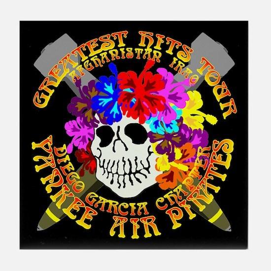 Diego Garcia Jolly Roger Tile Coaster