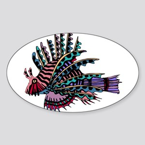 TROPICAL FISH {2} Sticker (Oval)