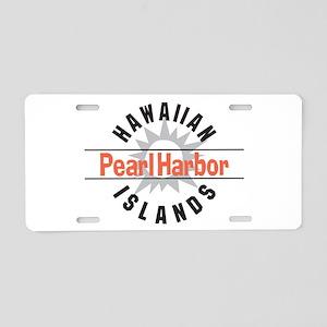 Pearl Harbor Hawaii Aluminum License Plate