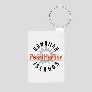 Pearl Harbor Hawaii Aluminum Photo Keychain