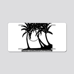 TROPICAL {4} Aluminum License Plate