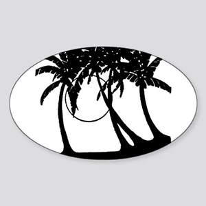 TROPICAL {4} Sticker (Oval)