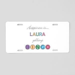 Laura BINGO Aluminum License Plate
